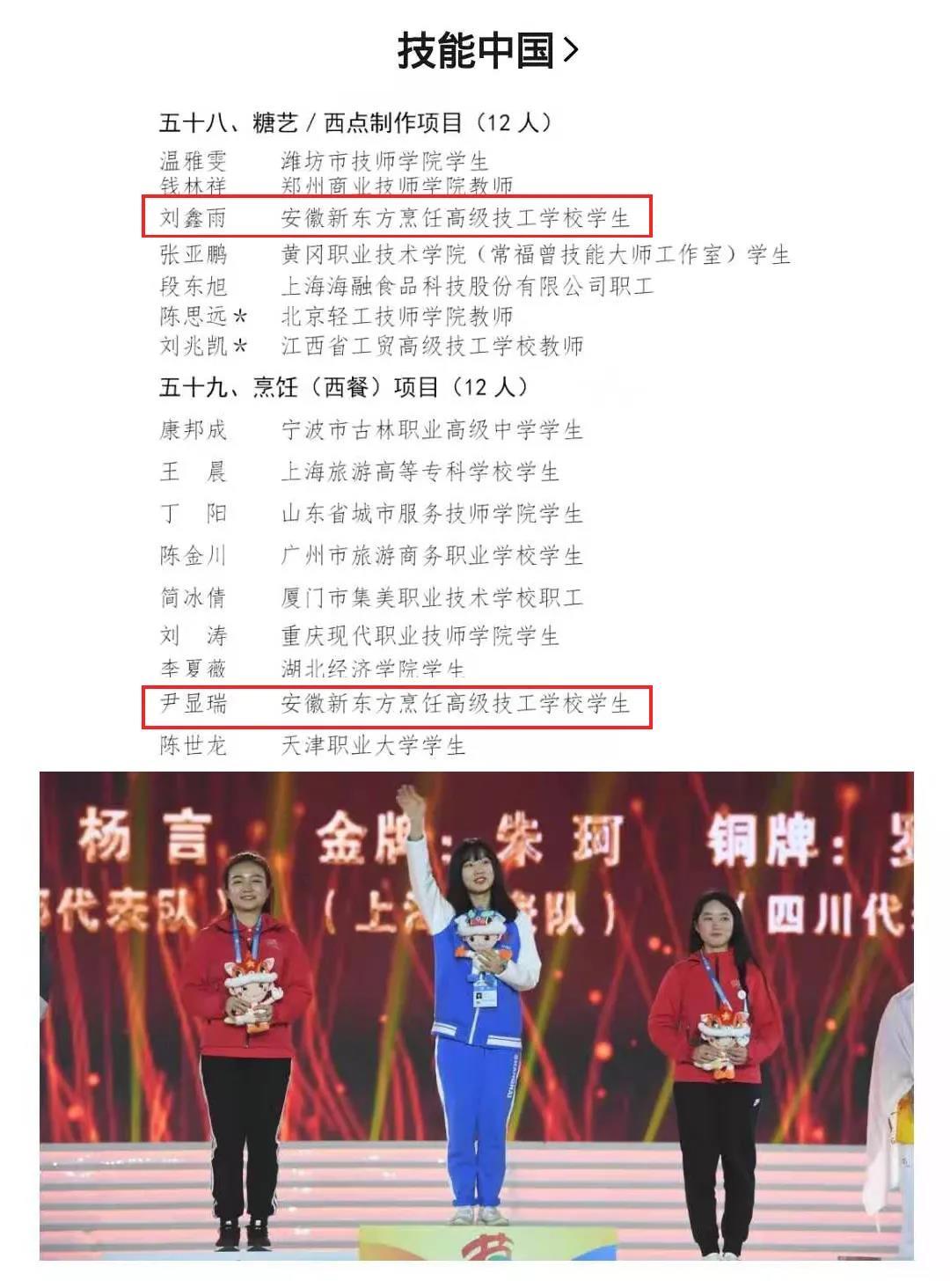 第46届世界技能大赛国家集训队名单公布,我校两名学生入选!